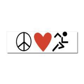 Peace Love Run Car Magnet 10 x 3> Stickers, Magnets, and Wall Peels> The Run Home