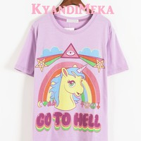 Purple Rainbow Hell Shirt