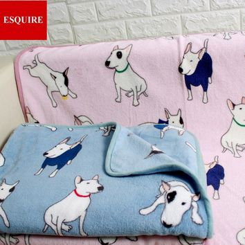 Bull terrier dog pattern blanket