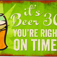 It's Beer 30 Wall Clock