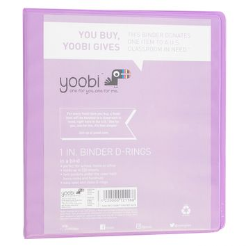 "1"" Ring Binder - Yoobi™"