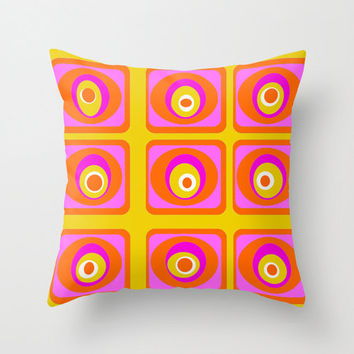 Cool Outdoor Pillow,Mod Outdoor Pillow,Outdoor Cushion, Mod Outdoor Cushion, Orange Outdoor Pillow, Modern Outdoor Pillow, Outdoor Pillow