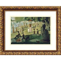 Amanti Art DSW01289 Sunday Afternoon on the Island of La Grande Jatte , 1884-1886 by Georges Seurat: 15 x 12 Print Reproduction