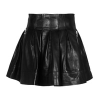 SLY 010 Fullbody Leather Black Pleated leather skirt - What's new
