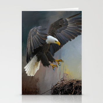 Eagles Nest Stationery Cards by Theresa Campbell D'August Art