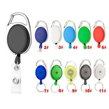New Style Retractable Pull Keychain Rings Buckle Badge Holder Name Tag Belt Recoil Outdoor Sports Camping Hiking Survival Tools