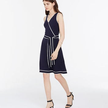 Tipped Wrap Dress | Ann Taylor