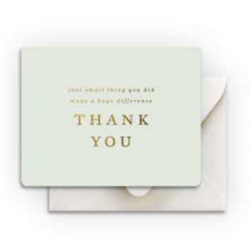 Small Things Thank You Card