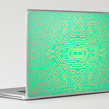 Radiate (Gold Teal) Laptop & iPad Skin by Jacqueline Maldonado | Society6