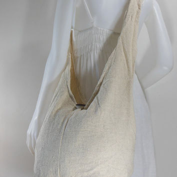 Ivory Hand Woven Cotton Crossbody Shoulder Hippie Hobo Messenger Bag E-HW19