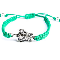 Turtle Green Hemp Bracelet