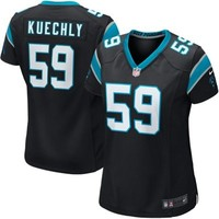 Nike Luke Kuechly Carolina Panthers Ladies Game Jersey - Black