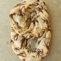 Galloping Giraffe Infinity Scarf [3805] - $21.00 : Vintage Inspired Clothing & Affordable Fall Frocks, deloom | Modern. Vintage. Crafted.