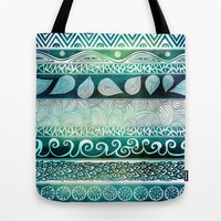 Dreamy Tribal Part VIII Tote Bag by Pom Graphic Design