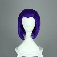 Raven From Teen Titans Medium Long 35cm Purple Manic Panic Anime Cosplay Wigs Gull Synthetic Hair