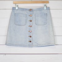 Gitty Up Button Up Denim Skirt