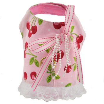 Cherry Print Dog Vest Harness