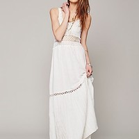 Free People Womens Clemintine Crochet Dress