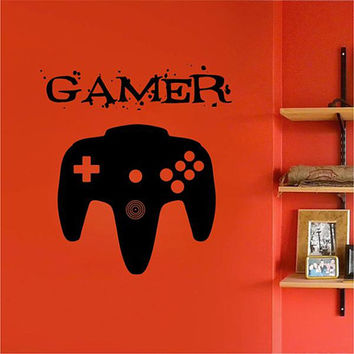kik2547 Wall Decal Sticker controller console Xbox 360 Game PS4 player bedroom teens