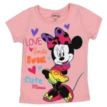 MINNIE MOUSE Girls Toddler T-Shirt-xdm7205