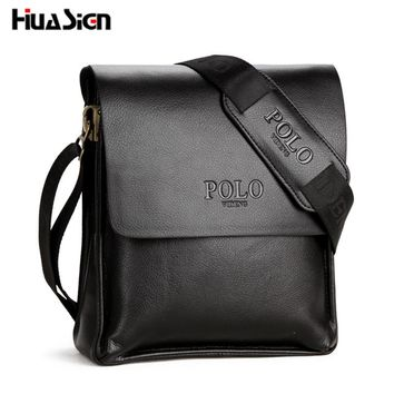 New 2017 Hot Selling High Quality Leather POLO Men Messenger Bags Crossbody  Bags Men s Shoulder Bag c52ea47315809