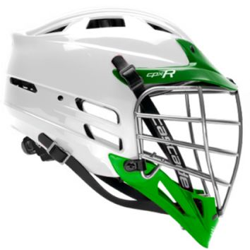 Cascade CPX-R Lacrosse helmet - White/Forest Green/Forest Green/Chrome Facemask | Lacrosse Unlimited