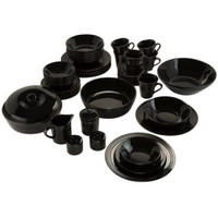 Elegant Microwavable Dishwasher Safe Banquet 45-Piece Dinnerware Serving Set