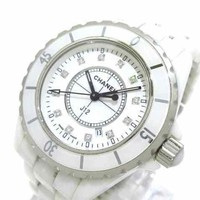 Auth CHANEL J12 H1628 White L.D.96083 Womens Wrist Watch