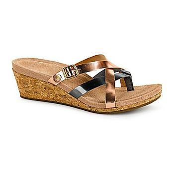 UGG Australia Women's Adalie Metallic Wedge Sandals - Rose Gold/Pewter