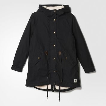 adidas Cotton Winter Parka - Black | adidas US
