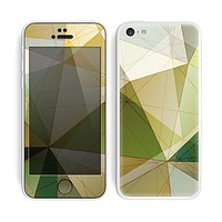 The Green Geometric Gradient Pattern Skin for the Apple iPhone 5c