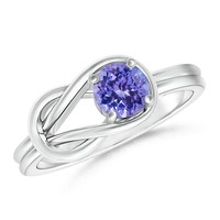 Solitaire Tanzanite Infinity Knot Ring