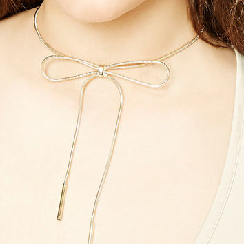 Snake Chain Bow Necklace
