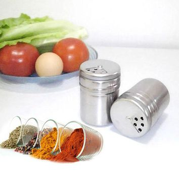 DCCKL72 Multifunction Stainless Steel Salt Spice Dispenser Seasoning Extracts Toothpick Box Holder kitchen cooking tools
