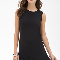 FOREVER 21 Drop-Waist Crepe Dress