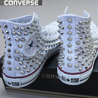 Genuine CONVERSE All-star with studs Sneakers Sheos White