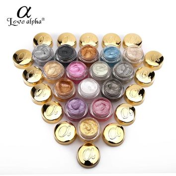 Love Alpha Glitter Eyeshadow Gel Metallic Powder Pigment Perfume Shining Cosmetics 3D Eye Makeup Highlighter Creamy Palette