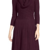 Eliza J Fit & Flare Sweater Dress (Regular & Petite) | Nordstrom