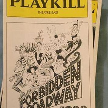 Forbidden Broadway 1988 Playbill