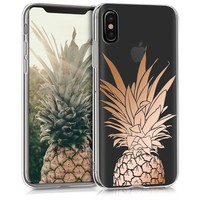 COVER FOR APPLE IPHONE X CASE PINEAPPLE SHRUB ROSE GOLD COVER MOBILE PHONE