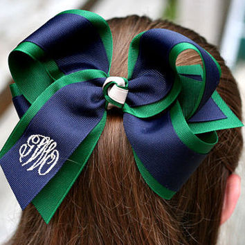 Custom Monogrammed Layered Hair Bow - Gracie Belle Bows