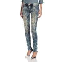 Dittos Women's Jessica Mid Rise Legging In Dark Acid Wash