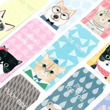 L47 10X Cute Kawaii Dog Cat Paper Envelope DIY Tool Greeting Card Cover Scrapbooking Creative Paper Gift Stationery