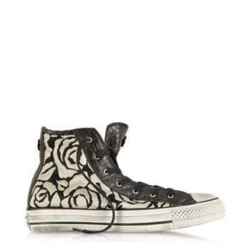 Converse Limited Edition Designer Shoes All Star HI White Roses Canvas and Textile LTD Sneaker