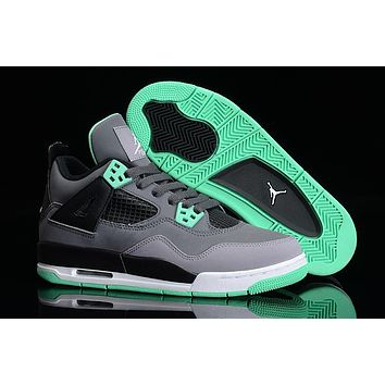 Air Jordan retro IV laser 4 glow mens basketball shoes cheap sneakers