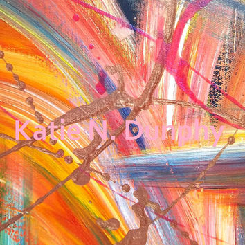 "Print of Original Abstract Painting 8""x10""by Katie N. Dunphy"