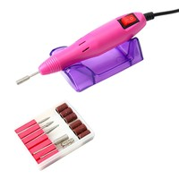 YaeKoo Profession Manicure Pedicure Electric Drill File Nail Art Pen Machine Kit Set-Pink