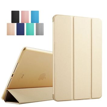 Luxury pu leather for ipad air2 kenke new smart cover Soft TPU Bumper Edge for iPad air 2 case tablet Sleep Wake up case