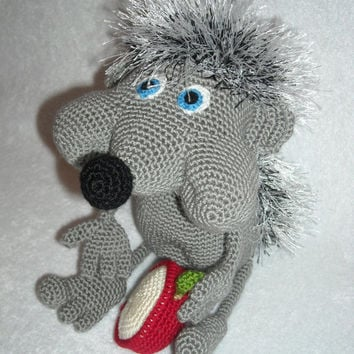 Hedgehog chubby cheeks. Amigurumi crochet,  hedgehog Crochet, Stuffed Doll, Toy, collectible