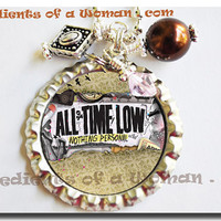 All Time Low Necklace Personalized Bottlecap Bottle Cap by Ingredients of a Woman